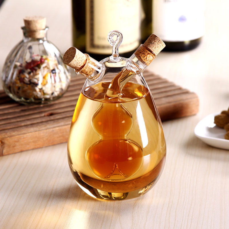 2020 Special Kitchenware Oil and Vinegar Glass Bottle 2 In 1 for kitchenware