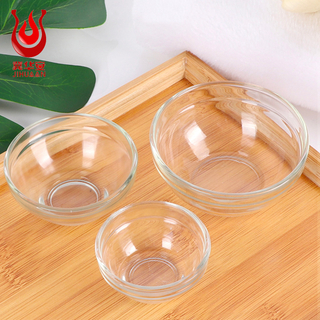 Wholesale Different size stackable glass Dip Bowl Set Glass Soy Dipping Bowls