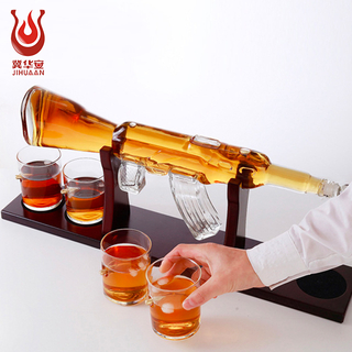 Gun shaped wine bottle